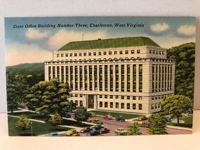 1950s State Office Building 3 Charleston West Virginia Postcard