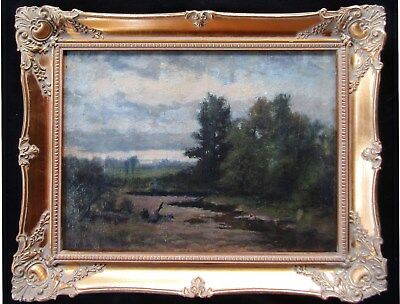 LISTED George Rhodes (1850-1937) OLD Impressionist Landscape Oil Painting NO RES