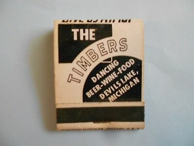The Timbers - Devil's Lake, Michigan -- Full Vintage Matchbook