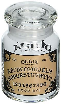 Hasbro Ouija 6oz Glass Clear Jar Spirit Board Witchcraft Apothecary for Candles