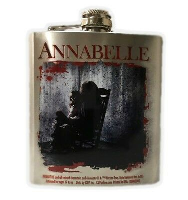 Annabelle Stainless Steel Flask Rocking Chair The Conjuring Killer Doll 8oz