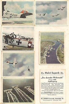GERMANY LOT OF SEVEN (7) CIGARETTE CARDS EARLY NAZI PERIOD LATE 1930's USED VG