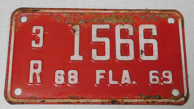 1968/69 Florida motorcycle license plate