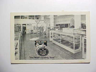 1942 Cheyenne Wyoming Western Ranchman Outfitters Store Interior Vg+