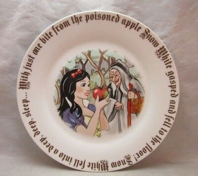 Paul Cardew Snow White & witch plate. Poison Apple