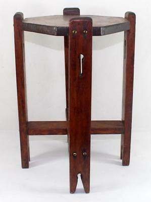 ANTIQUE ARTS & Crafts Wood Taboret Table