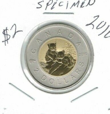 2010 Canada Specimen Lynx Uncirculated $2 coin!
