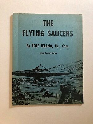 Vintage The Flying Saucers by Rolf Telano,Edited by Gray Barker Saucerian Books