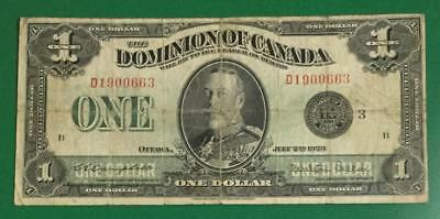 """1923 $1 Dominion of Canada """"LARGE SIZE"""" """"HORSEBLANKET"""" Currency!"""