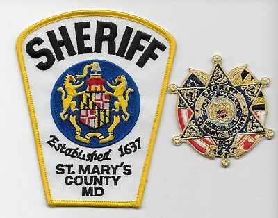 Set of 2 St Mary's CountySheriff State Maryland MD