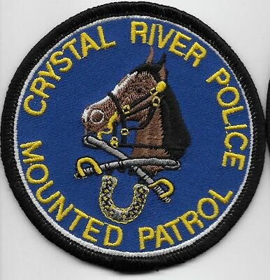 Mounted Unit Crystal River Police State Florida FL Defunct
