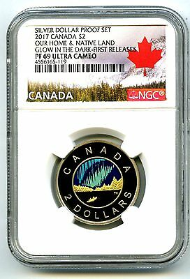 2017 Canada $2 Proof Toonie Ngc Pf69 Glow In Dark Dance Of Spirits First Release
