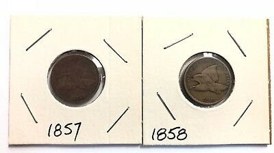 1857 & 1858 Flying Eagle 🦅 Cents / Penny - Solid Original Coins