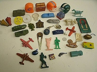Assorted Lot of 40 Vtg Gumball Cracker Jack Cereal Premium Toy Prizes & Charms