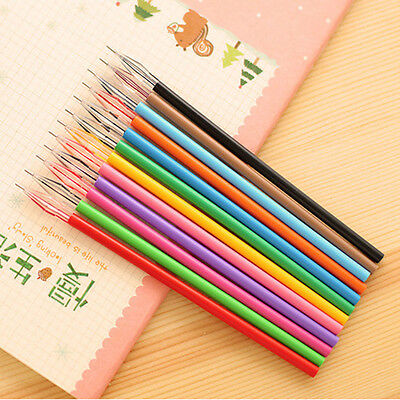 Candy Color Novelty Colorful Gel Ink Pen Refills School Stationery Supplies 12pc