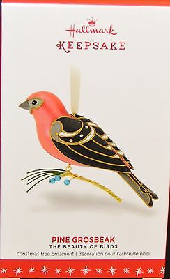 2016 Hallmark - Pine Grosbeak -12Th In The Beauty Of Birds - Mint In Box