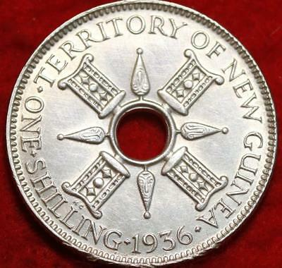 Uncirculated 1936 New Guinea One Shilling Silver Foreign Coin