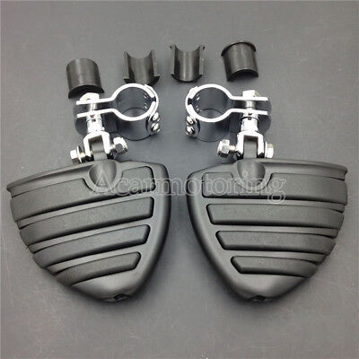 """Universal 1 1/4 1.25"""" Highway Foot Pegs For Harley Sportster XL Dyna Softail"""