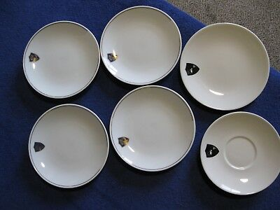 Vintage Western Airlines Anniversary (1926 - Indian head) (4) bread plates + 2
