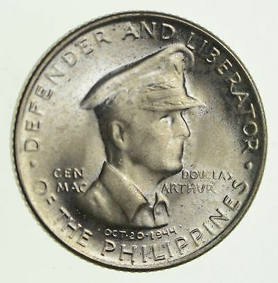 Roughly Size of Half Dollar - 1947 Philippines 50 Centavos World Silver 10g *973