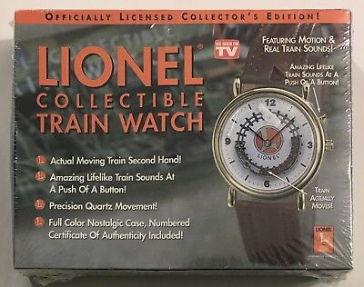 Lionel Collectible Train Watch with Train Sounds & Moving Train - New Sealed
