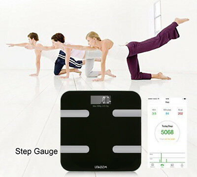 Bluetooth Smart Body Fat Scale BMI Measure Monitor Water Muscle IOS and Android