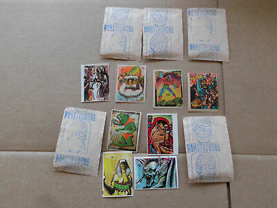 1980s Monster/Monstruos Stamps X 5 Packs Rare