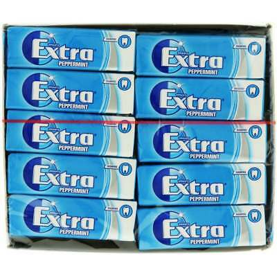 Wrigley's Extra Peppermint Flavour Chewing Gum - 30x 14g Packs - UK Snacks