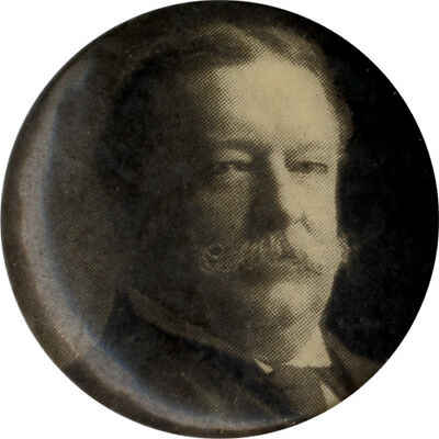 Original William Howard Taft Celluloid Picture Button (7142)