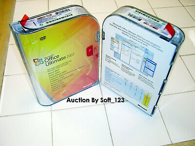 Microsoft Office 2007 Ultimate Full Version Licensed for 2 PCs =NEW SEALED BOX=