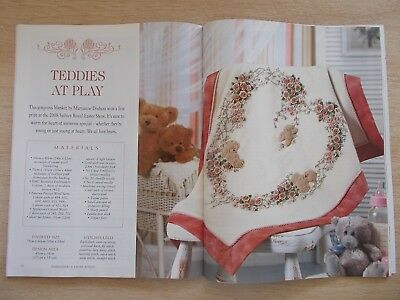 Embroidery & Cross Stitch Vol 15 #7~Teddies At Play~Parrot~Wisteria~Sampler...