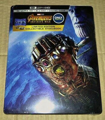 New Avengers Infinity War 4K Ultra HD Blu-ray Digital Steelbook Bestbuy USA