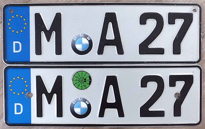 BMW MUNICH German European  License PLATE SET  REAL ! Nice M Bavaria