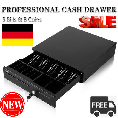 Heavy Duty Cash Drawer Kassenschublade 5 Bills 8 Coins (1 Row)Tray 1 Cheque Slot