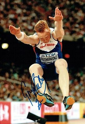 Greg RUTHERFORD Autograph Signed Photo 1 AFTAL COA Olympic Gold Medal Winner