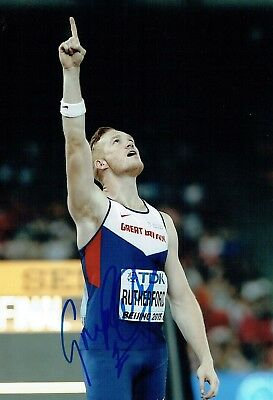 Greg RUTHERFORD Autograph Signed Photo 2 AFTAL COA Olympic Gold Medal Winner