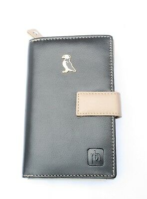 Puffin Enamel Design Leather Purse with Zipped Pocket RFID Safe Ladies Gift 289