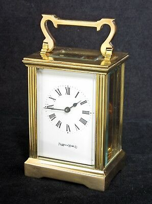 Vintage Mappin & Webb Gilt Brass Carriage Clock, 8 Day, Serviced & Working Well