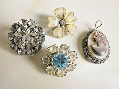 Antique & Vintage Jewellery 3 Pin/Brooches & A Mother of Pearl Cameo