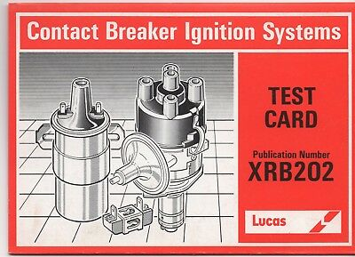 Lucas Test Card Contact Breaker Ignition Systems