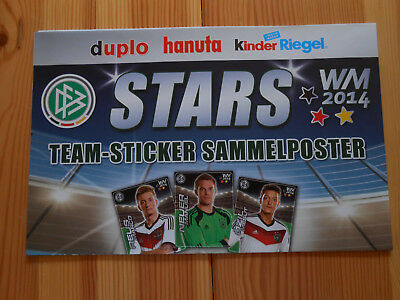 1 Duplo-Hanuta-Kinder Riegel Sammelposter WM 2014  top!