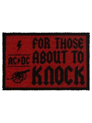 AC/DC For Those About To Knock Door Mat 60x40cm
