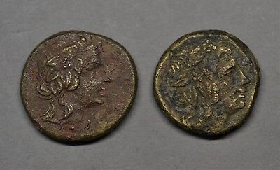 Two Quality Ancient Greek Ae 22 Bronze Coins Of Pontos Amisos, 85-65 Bc.