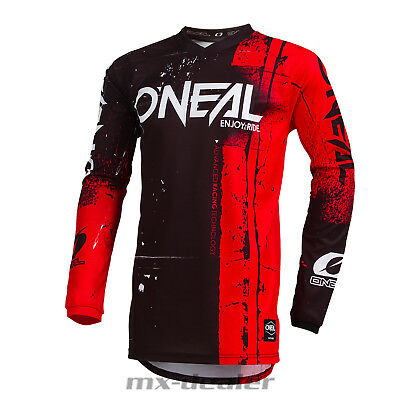 2019 O'Neal Element Shred rot Jersey Trikot mx motocross mtb DH Enduro BMX Quad