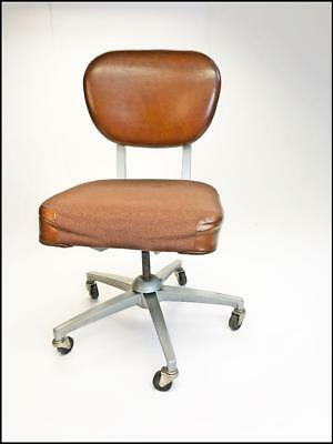 Vintage INDUSTRIAL CHAIR desk office swivel tanker mid century EMECO adjustable
