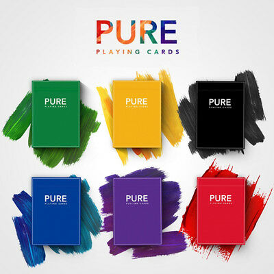 PURE Playing Cards Deck 6 Color Magic Poker Standard Size For Cardistry Sealed