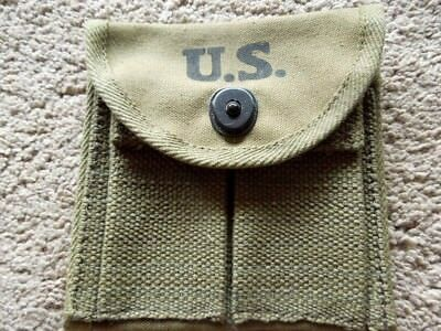 USGI  WW2 Type .30 M1  Carbine Buttstock Pouch Dated 43