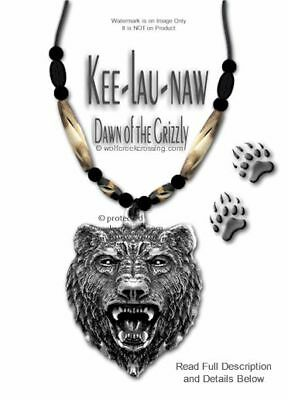 Rugged Great Bear Necklace - Grizzly Buffalo Bone Bead Jewelry Gift - Free Ship*