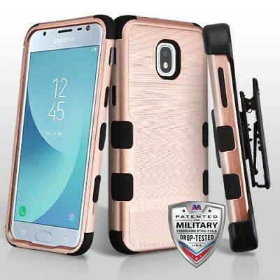 be8fb21edd2 Rose Gold Brushed+Holster SAMSUNG Galaxy J3 2018 Achieve Star Express Prime  3