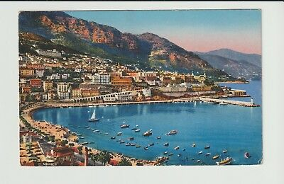 Monaco Stamps Picture Postcard 1947 View Rare Postal History Collection